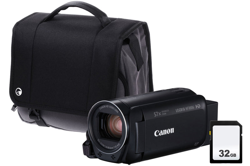 Canon Legria HF R806 Camcorder Kit including 32GB SD Card and Case - Black
