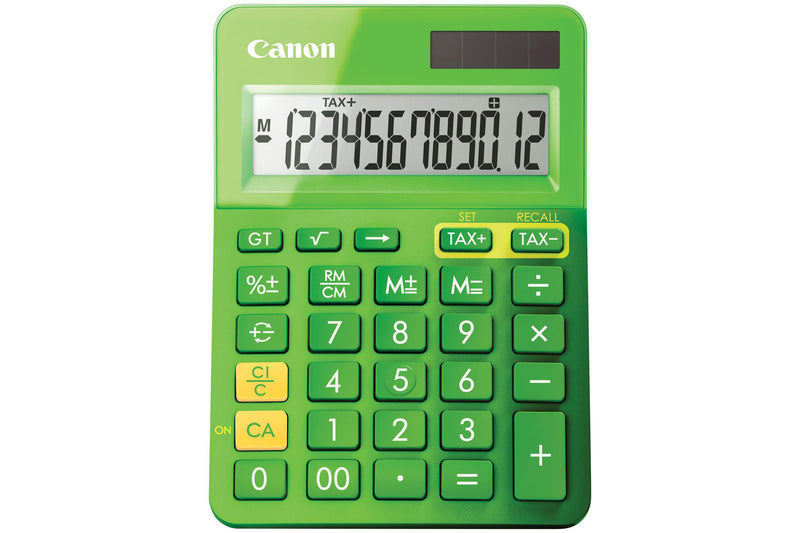 Canon LS-123K K Series 12 Digit Desktop Calculator - Green