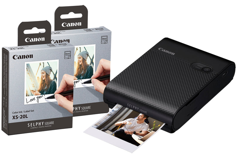Canon Selphy Square QX10 Instant Photo Printer including 40 Shots - Black