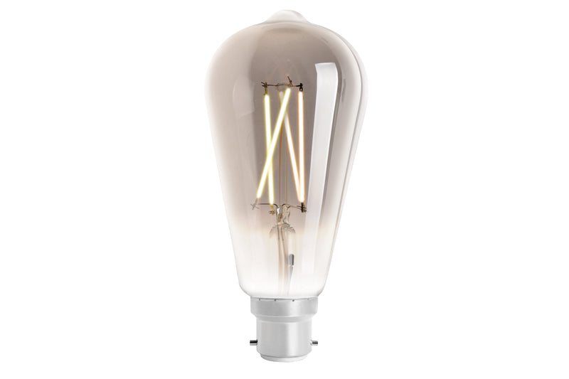 4lite WiZ Connected ST64 Smoky White WiFi LED Smart Bulb - B22