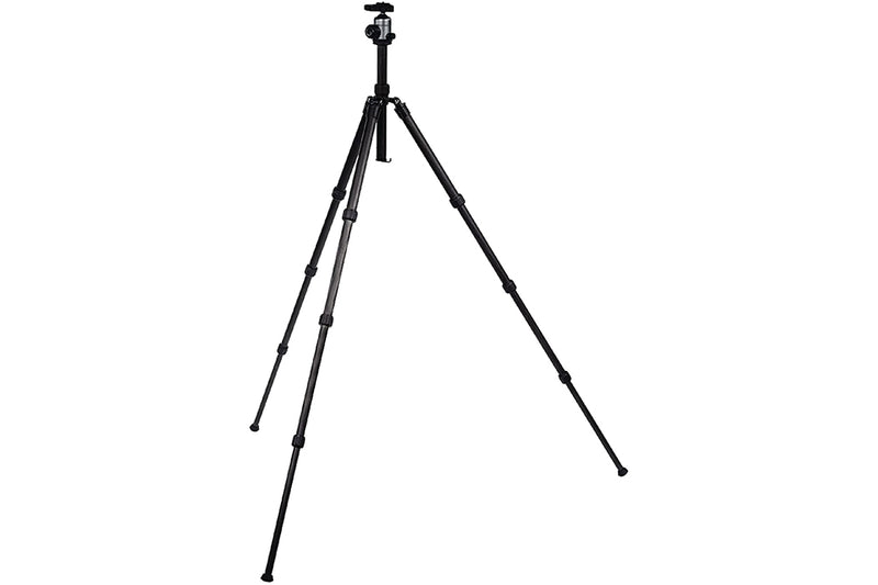 Camlink Carbon Fibre Lightweight Traveller Ball Head Tripod (Max Height 139cm) - Black