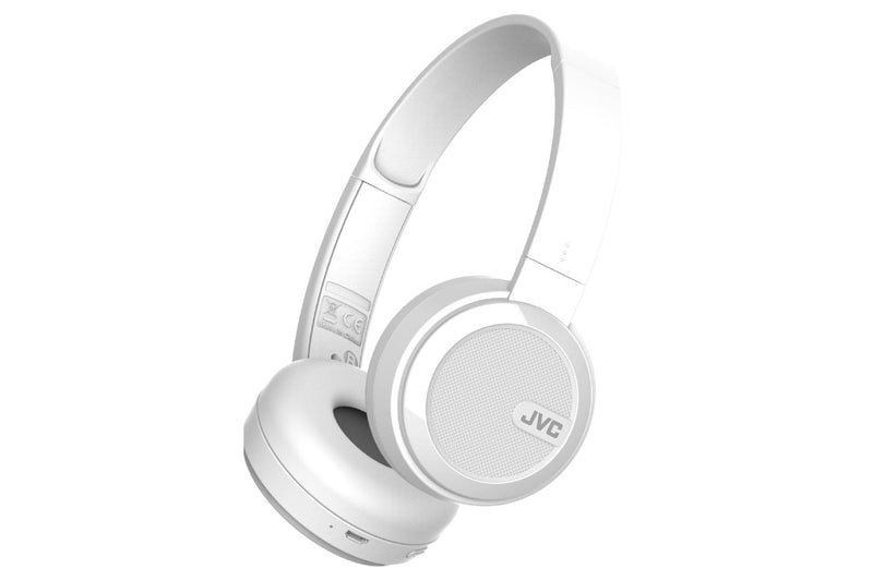 JVC HA-S40 Wireless Bluetooth On-Ear Headphones - White