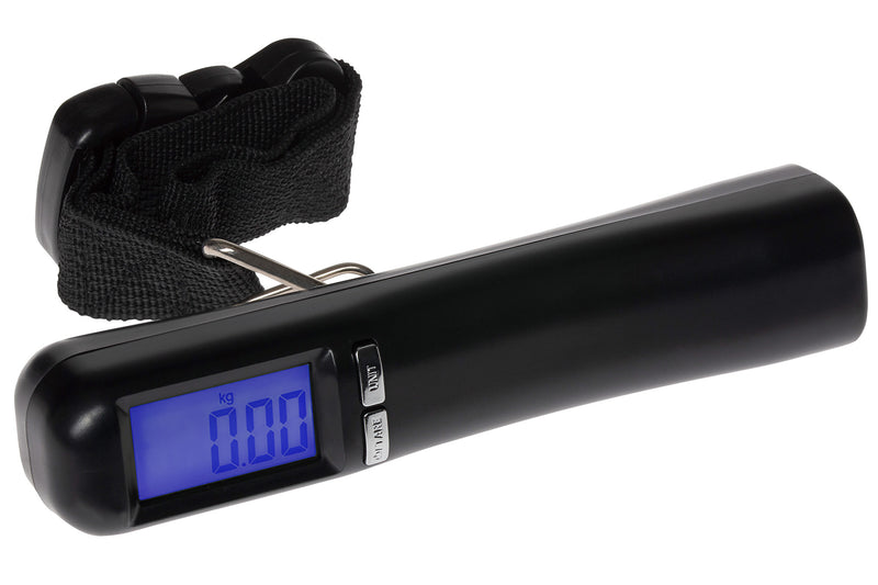 Mercury Digital Luggage Scale With Blue LCD Backlight Display - Up To 50Kgs