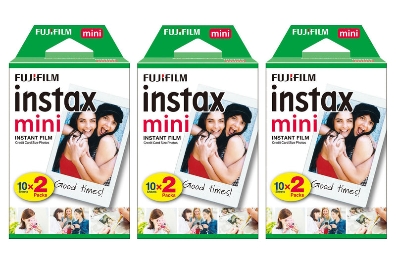 Fujifilm Instax Mini Credit Card Size Glossy Photo Film x 60 Prints