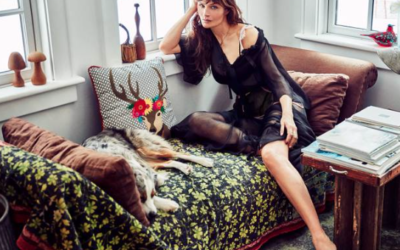 British Vogue: Helena Christensen photographs her Catskills retreat