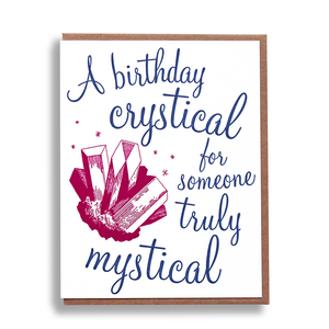 Crystical Birthday Card