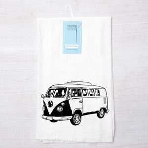 Retro Bus Flour Sack Towel