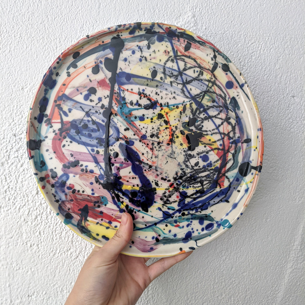 Splatter Serving Bowl