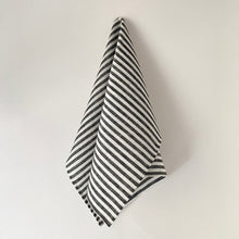 Load image into Gallery viewer, Black & White Stripe Kitchen Towel