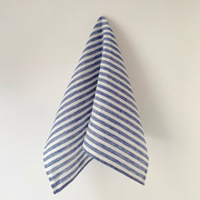 Load image into Gallery viewer, Blue & White Stripe Kitchen Towel