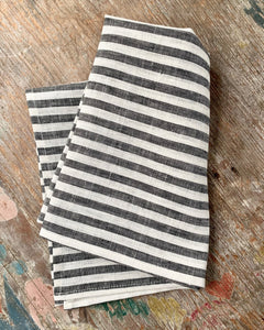 Black & White Stripe Kitchen Towel
