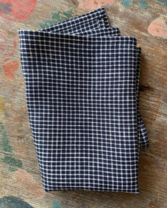 Navy & White Plaid Kitchen Towel