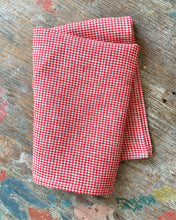 Load image into Gallery viewer, Red & White Check Kitchen Towel
