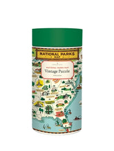 Load image into Gallery viewer, National Parks Map Vintage Inspired 1000 Piece Puzzle