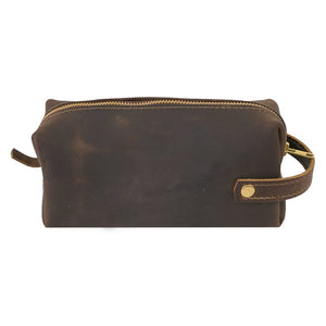 Brown Medium Leather Dopp Kit