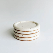 Load image into Gallery viewer, White Speckled Coasters, Set of 4