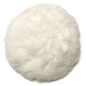 White Alpaca Moon Pillow