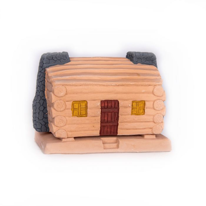 Log Cabin Incense Burner with 20 Count Box Pinon Incense