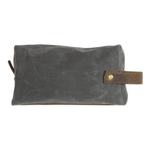 Grey Canvas Medium Pouch