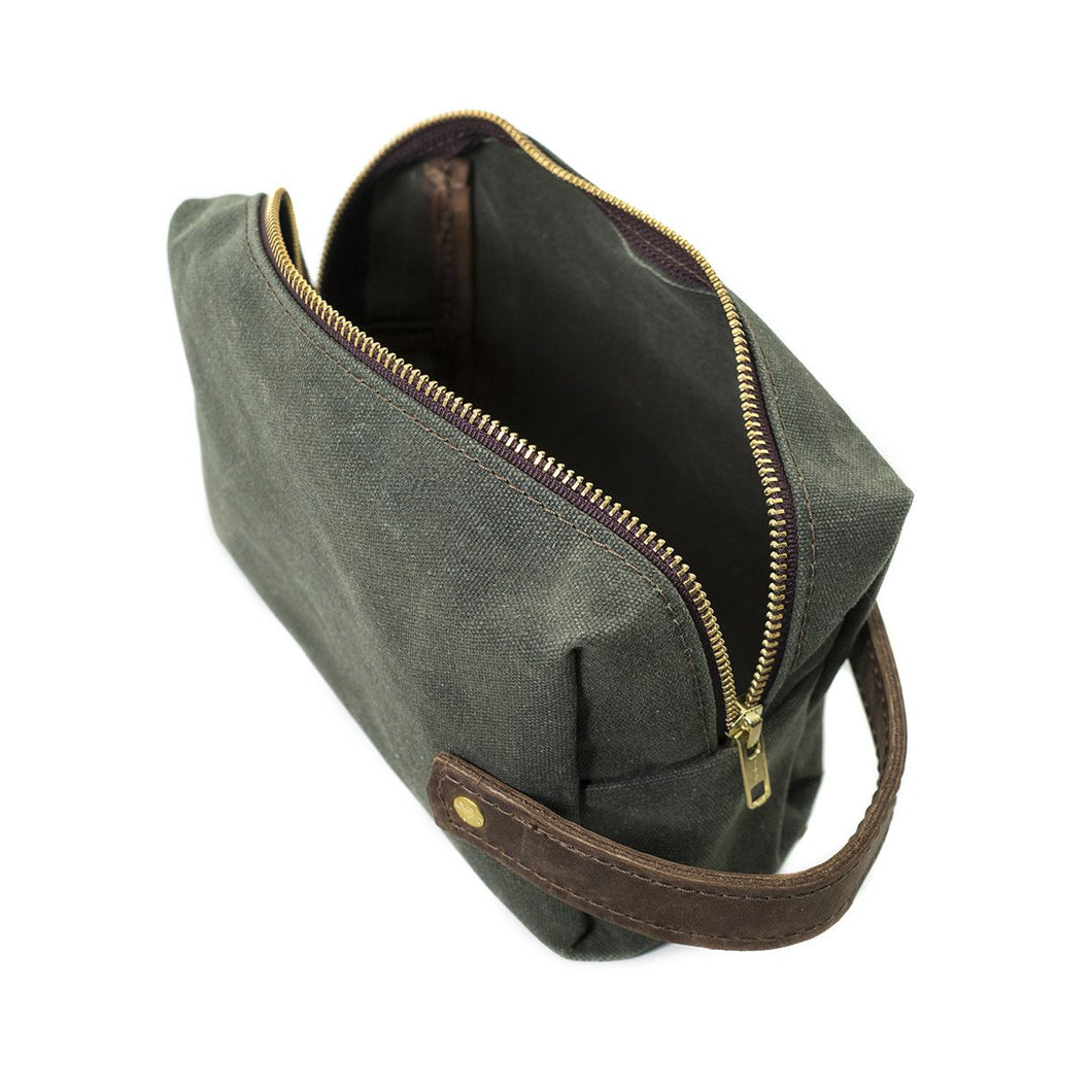 Green Canvas Medium Pouch