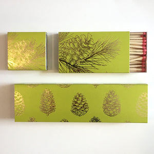 "Pine Cone 8"" Box Matches"