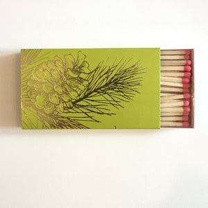 "Pine Cone 4"" Box Matches"
