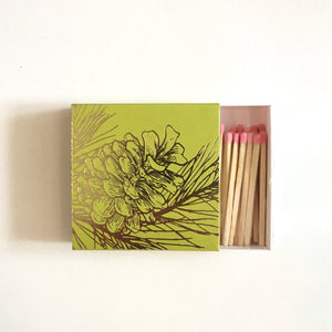 "Pine Cone 2"" Box Matches"