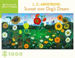 L. C. Armstrong: Sunset over Dog's Dream 1000 Piece Puzzle