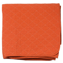 Load image into Gallery viewer, Orange Quilted Cotton Solid Throw Blanket