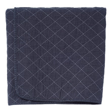 Load image into Gallery viewer, Charcoal Quilted Cotton Solid Throw Blanket