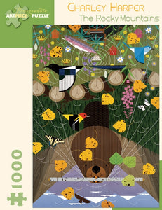 Charley Harper The Rocky Mountains 1000 Piece Puzzle