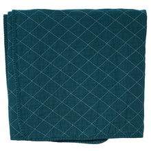Load image into Gallery viewer, Teal Quilted Cotton Solid Throw Blanket