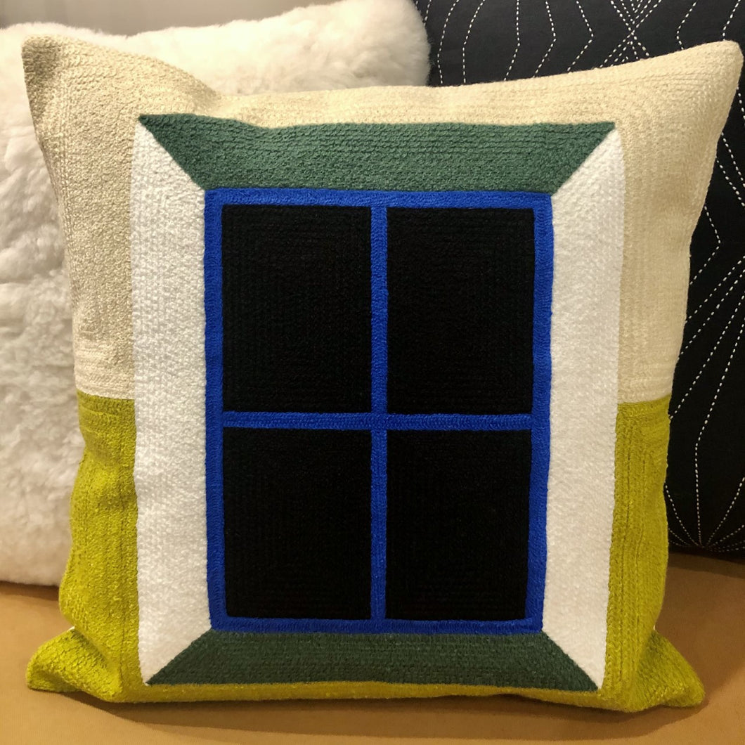 Embroidered Window Pillow