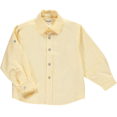 Boys Yellow Oxford Shirt