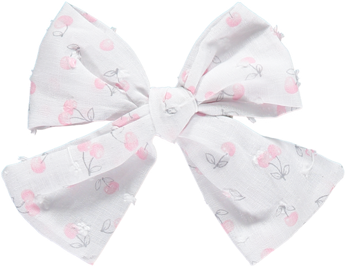 Pink Cherries Hair Bow