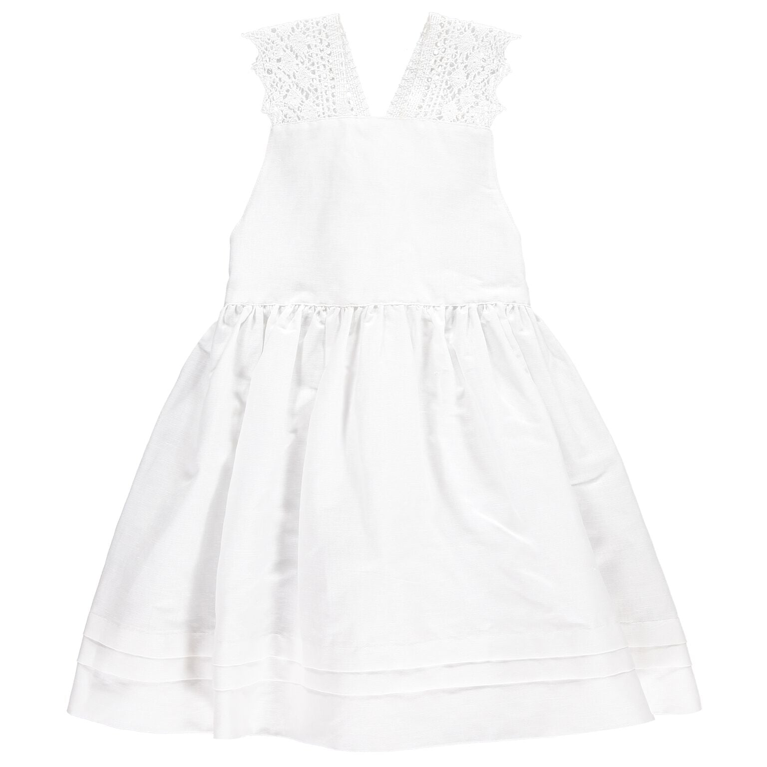 White Dress w Lace Straps