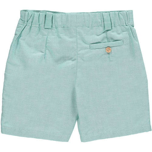 Boys Green Oxford Shorts