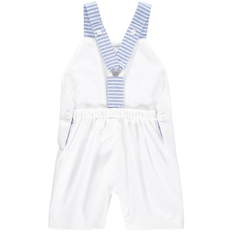 White and Stripy Romper