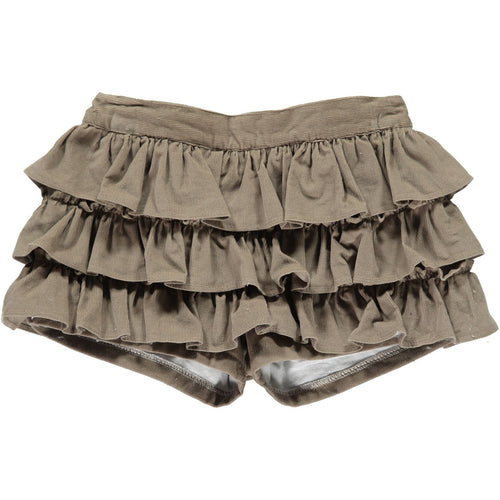 Camel Frilly Shorts