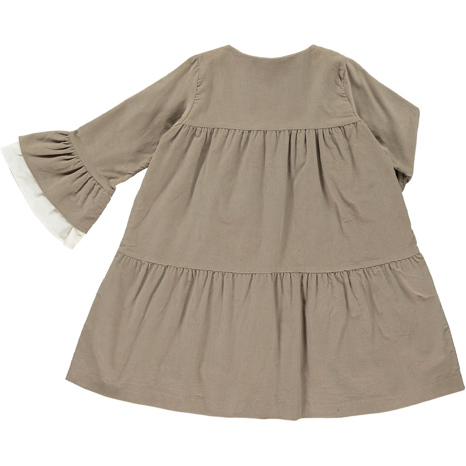 Tiered Camel Dress