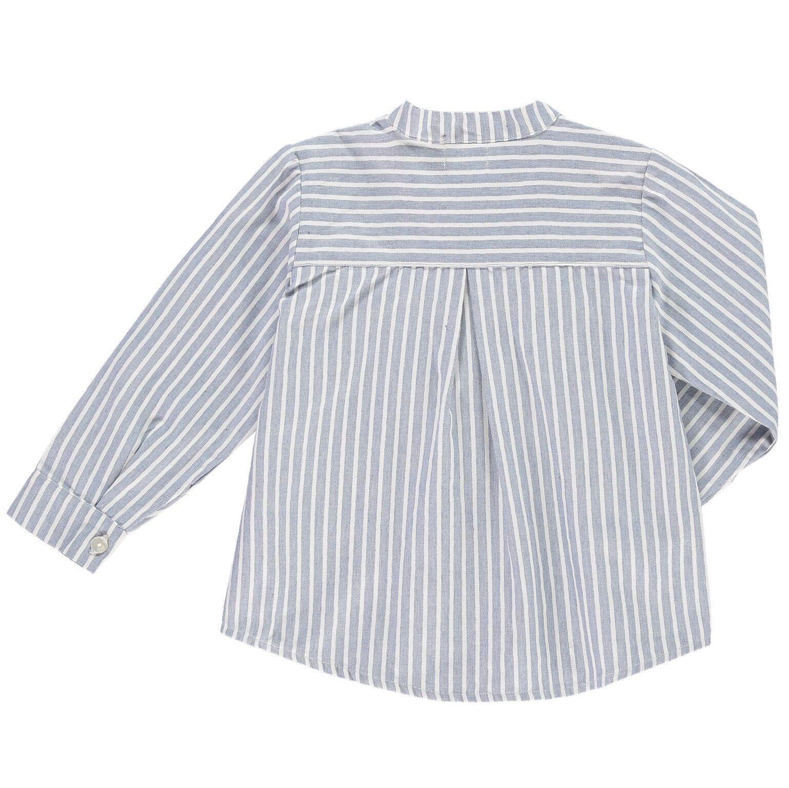 Boys Stripy Blue Denim Tunic