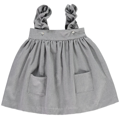 Grey Tweed Skirt w Pockets