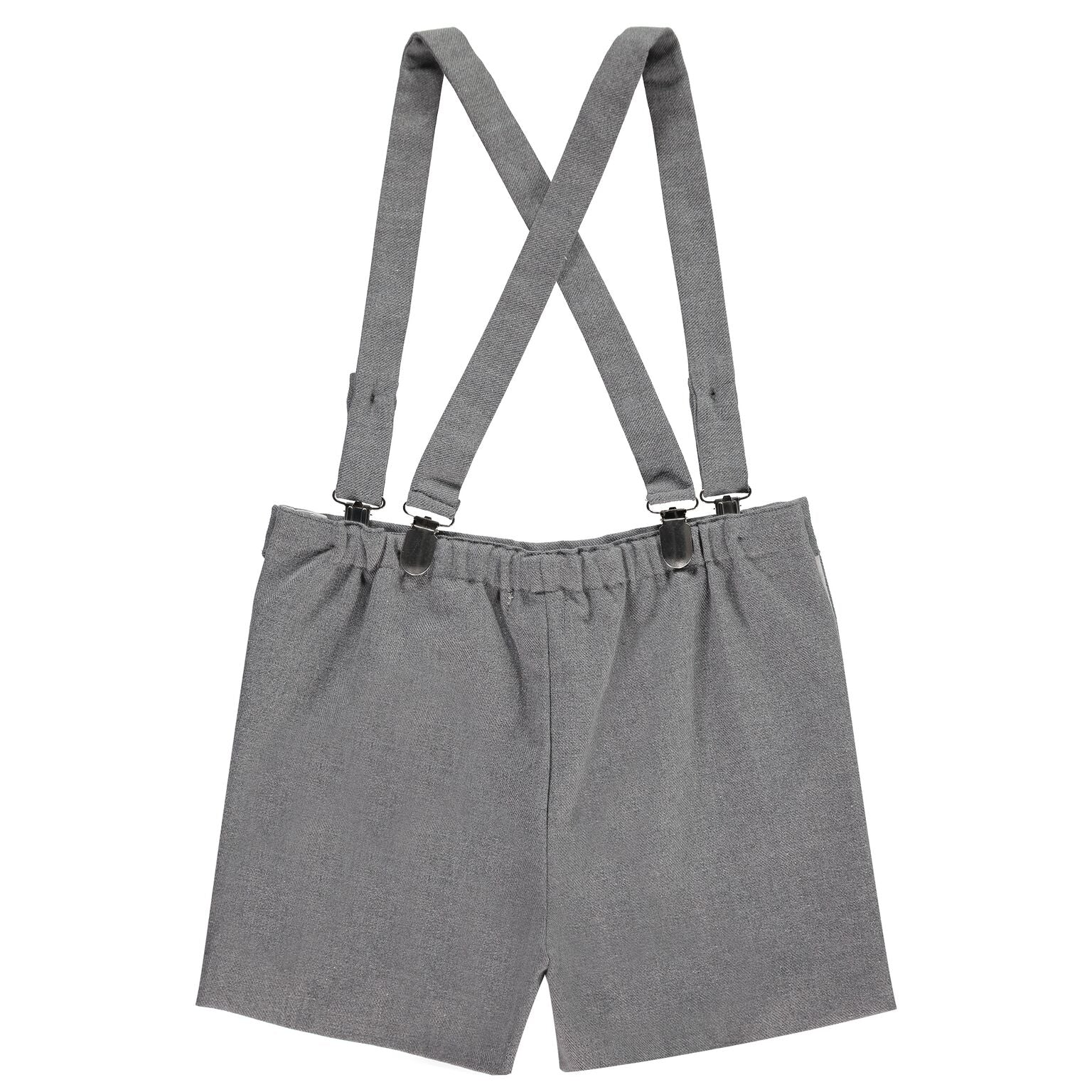 Boys Grey Tweed Shorts