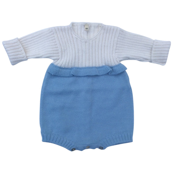 Two Colours Wool Romper