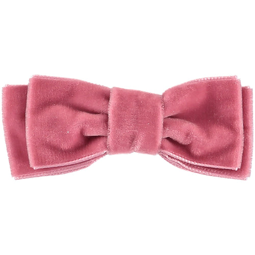 Dusty Pink Velvet Ballet Bow