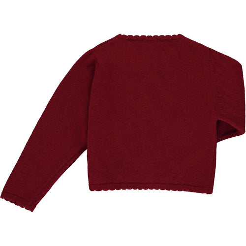 Bordeaux Wool Cardigan