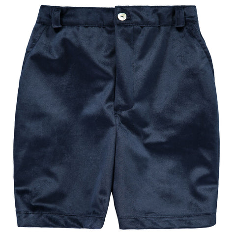 Water Blue Velvet Shorts