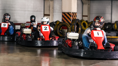 Go Karting Team Building - The Panic Room Online
