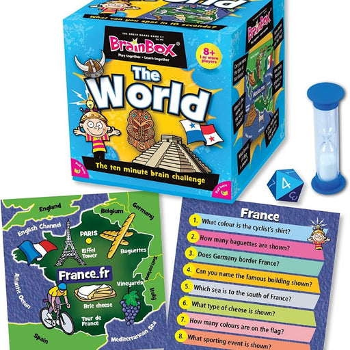 Brainbox World: The 10 Minutes Brain Challenge Card Game - The Panic Room Escape Ltd