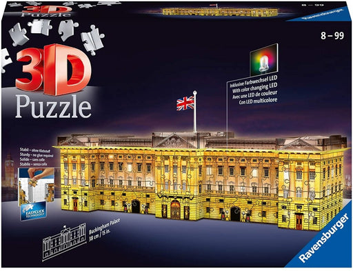Buckingham Palace Night Edition 237 piece 3D Jigsaw Puzzle with LED lighting - The Panic Room Escape Ltd